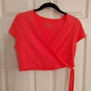 Crop Top/Shrug - Pink - Size XL 18 (Girls) NWT